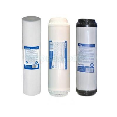 Картриджи для осмоса и проточных фильтров - Комплект картриджей №7 Aquafilter (комплексный) - фото 1