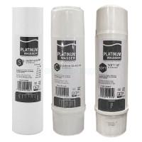 Комплект картриджей Platinum Wasser - SOFT (умягчающий) для проточного фильтра