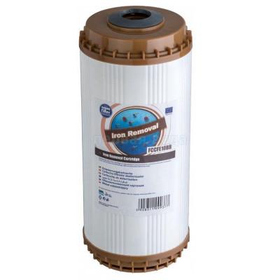 Картриджи Big Blue: 20 дюймов (51х11,5см), 10 дюймов (25х11,5см)  - Картридж обезжелезивающий Aquafilter FCCFE10BB - фото 1