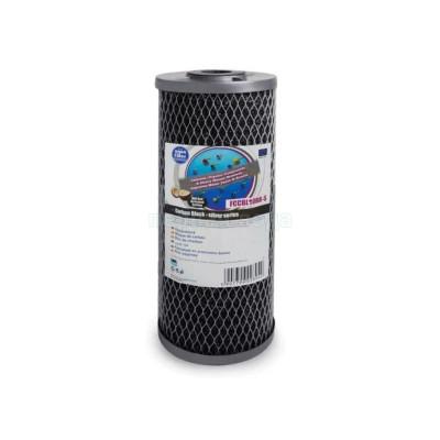Картриджи Big Blue: 20 дюймов (51х11,5см), 10 дюймов (25х11,5см)  - Картридж из брикетированного угля Aquafilter FCCBL10BB-Silver - фото 1