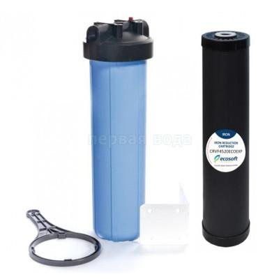 Обезжелезивание воды - Фильтр Big Blue 20 (BB20) Ecosoft с обезжелезивающим картриджем в комплекте - фото 1