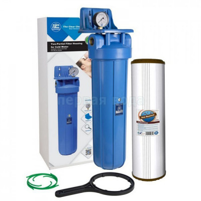 Обезжелезивание воды - Фильтр обезжелезивающий Aquafilter FH20B1-B-WB+FCCFE20BB - фото 1