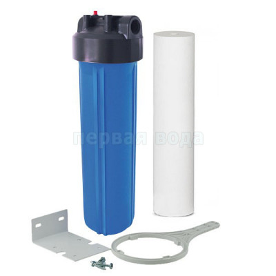 """Корпуса фильтров BIG BLUE - Фильтр Organic Big Blue 20"""" с механическим картриджем - фото 1"""