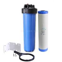 """Фильтр Big Blue AquaMarine 20"""" + угольный картридж AquaMarine UDF-KDF20BB с загрузкой KDF"""
