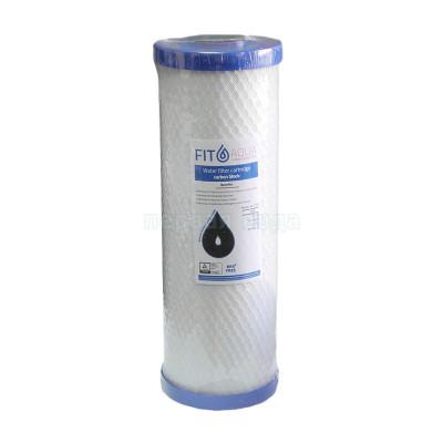 Картриджи Big Blue: 20 дюймов (51х11,5см), 10 дюймов (25х11,5см)  - Картридж из брикетированного угля FITaqua AC-CTO-10 (Big Blue 10) - фото 1