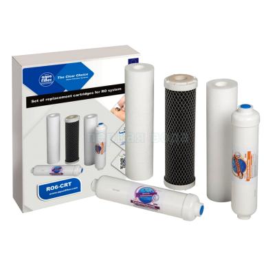 Картриджи для осмоса и проточных фильтров - Комплект картриджей Aquafilter RO6-CRT - фото 1