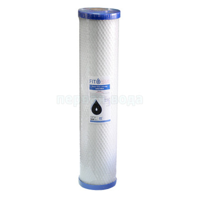 Картриджи Big Blue: 20 дюймов (51х11,5см), 10 дюймов (25х11,5см) - Картридж из брикетированного угля Fitaqua AC-СТО-BB20 (Big Blue 20) - фото 1