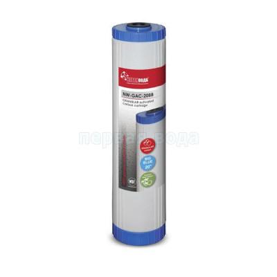 Картриджи Big Blue: 20 дюймов (51х11,5см), 10 дюймов (25х11,5см)  - Картридж из гранулированного угля Новая вода NW-GAC-20BB (многоразовый корпус) (Big Blue 20) - фото 1