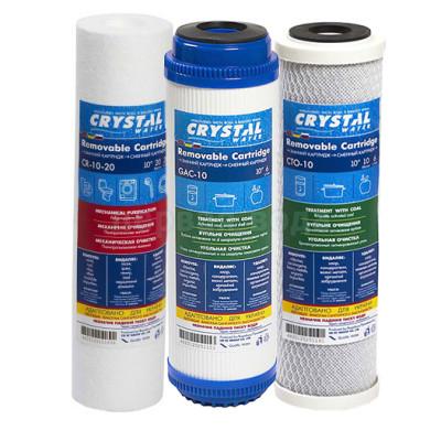 Картриджи для осмоса и проточных фильтров - Комплект картриджей CRYSTAL - фото 1