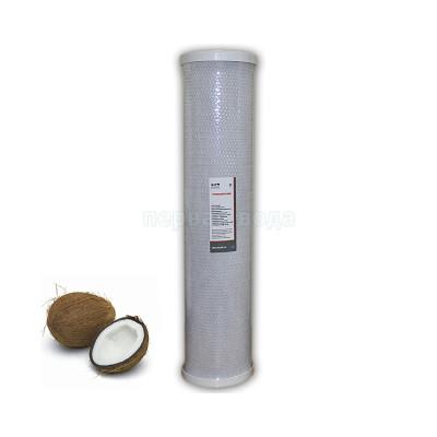 Картриджи Big Blue: 20 дюймов (51х11,5см), 10 дюймов (25х11,5см)  - Картридж из брикетированного угля Raifil CBC-20-BP-10 - фото 1