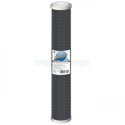 Картриджи Big Blue: 20 дюймов (51х11,5см), 10 дюймов (25х11,5см)  - Картридж из брикетированного угля Aquafilter FCCBL-L (Slim)  - фото 1