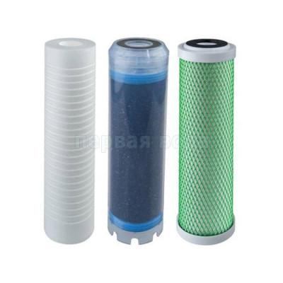 Картриджи для осмоса и проточных фильтров - Комплект картриджей Atlas Filtri 1-2-3 (усиленный по хлору) - фото 1
