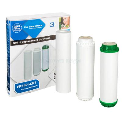 Картриджи для осмоса и проточных фильтров - Комплект картриджей Aquafilter FP3-K1-CRT - фото 1