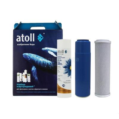 Картриджи для осмоса и проточных фильтров - Комплект картриджей Atoll № 203 Эко  - фото 1