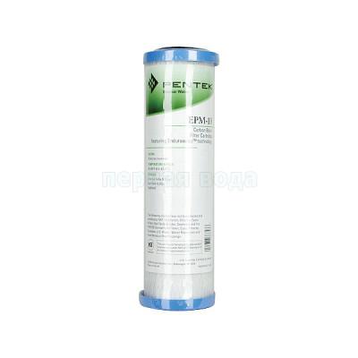 Картриджи для осмоса и проточных фильтров - Картридж угольный брикетированный Pentek SlimLine EPM-10 - фото 1