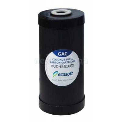 "Картриджи Big Blue: 20 дюймов (51х11,5см), 10 дюймов (25х11,5см)  - Картридж из гранулированного угля Ecosoft КУДХ 4,5x10""  (CHV4510ECO) Big Blue 10 - фото 1"