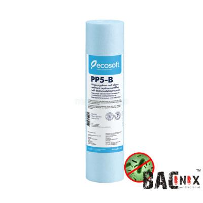Картриджи для осмоса и проточных фильтров - Картридж полипропиленовый бактериостатический Ecosoft 2,5х10, 5 мкм (CPV25105BECO) - фото 1