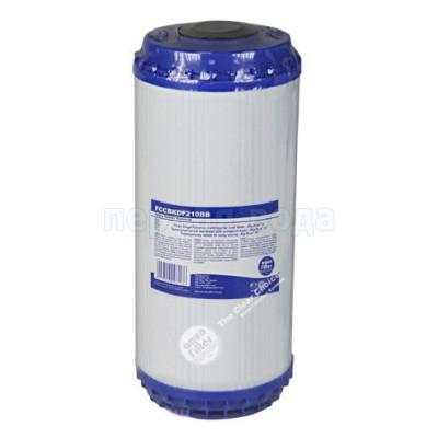 Картриджи Big Blue: 20 дюймов (51х11,5см), 10 дюймов (25х11,5см)  - Картридж с элементом KDF Aquafilter FCCBKDF210BB (Big Blue 10) - фото 1