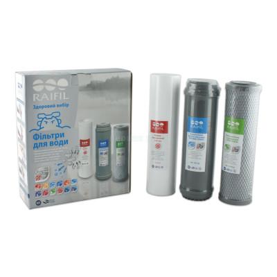 Картриджи для осмоса и проточных фильтров - Комплект картриджей Raifil Arg Trio Silver - фото 1