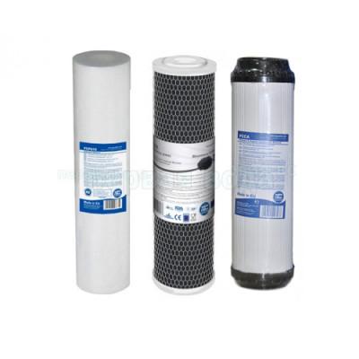 Картриджи для осмоса и проточных фильтров - Комплект картриджей Aquafilter (хлор) - фото 1