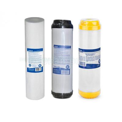 Картриджи для осмоса и проточных фильтров - Комплект картриджей №4 Aquafilter (умягчение) - фото 1