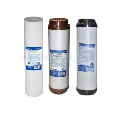 Картриджи для осмоса и проточных фильтров - Комплект картриджей №5 Aquafilter (обезжелезивание) - фото 1