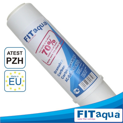 Картриджи для осмоса и проточных фильтров - Картридж из гранулированного угля Fitaqua AC-GAC-10 - фото 1