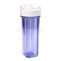 """Корпус фильтра прозрачный AquaLine 10"""" + белая плоская крышка"""