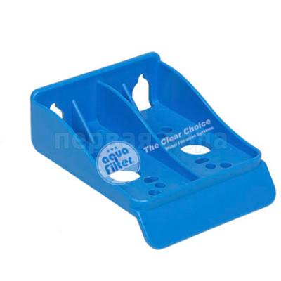 Разное (ключи, пластины, смазки, уплотнители) - Кронштейн одинарный пластиковый Aquafilter - фото 1