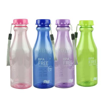 Разное (ключи, пластины, смазки, уплотнители) - Бутылка спортивная небьющаяся, 0,550 л (в ассортименте) - фото 1