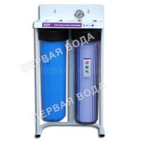 Фильтр Raifil Вig Blue 20 2-х стадийный (PU908B2-BK1-PR-S-G) с прозрачной колбой