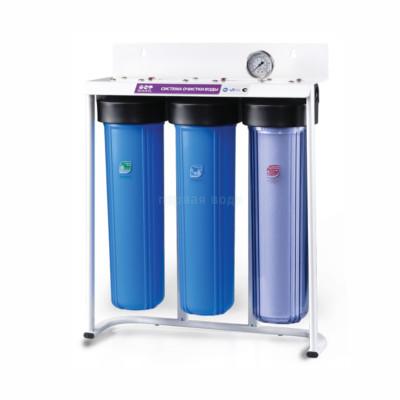 Фильтр BIG BLUE 20 Raifil Трио Plus обезжелезивание  (с прозрачной колбой) - Raifil (Южная Корея)