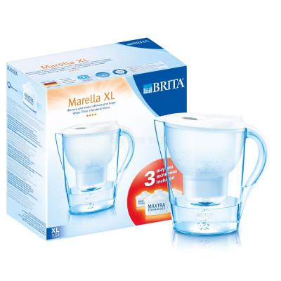 Фильтры-кувшины - Фильтр кувшин Brita Marella XL (белый), 3 картриджа в комплекте - фото 1