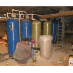 Процес монтажа оборудования для очиски воды в больнице № 4 г. Днепр