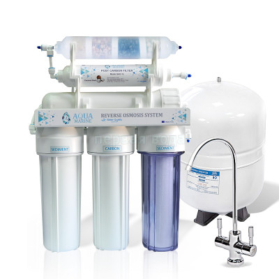 Фильтры обратного осмоса - Фильтр с обратным осмосом AquaMarine RO-6 BIO-ACTIV (4 минерала) - фото 1
