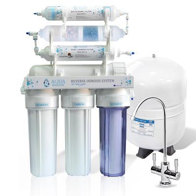 Фильтры обратного осмоса - Фильтр с обратным осмосом AquaMarine RO-7 BIO-ACTIV (4 минерала) bio - фото 1