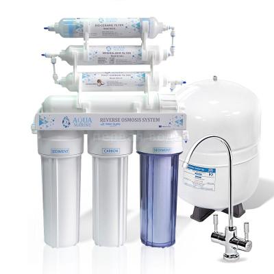 Фильтры обратного осмоса - Фильтр с обратным осмосом AquaMarine RO-7 bio - фото 1