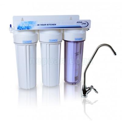 Проточные фильтры - Проточный фильтр Aqualine MF3 - фото 1