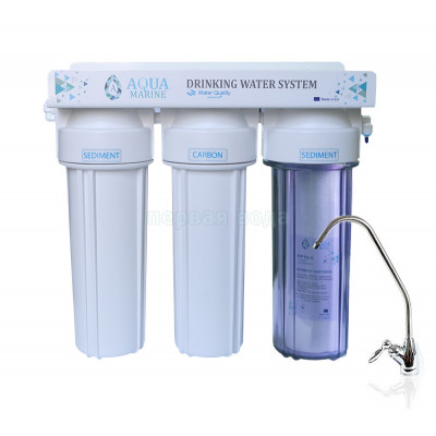 Товары в подарок - Проточный фильтр AquaMarine TRIO (подарок к системе) - фото 1