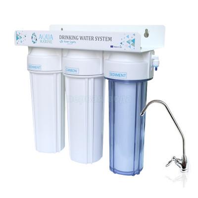 Проточные фильтры - Проточный фильтр AquaMarine TRIO (c умягчением)  - фото 1