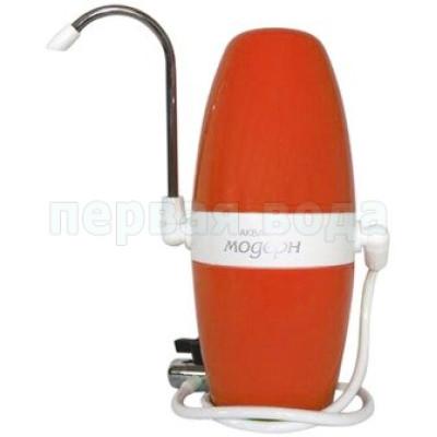 Проточные фильтры - Настольный фильтр Аквафор Модерн исп.2 (с дивертором) Оранжевый - фото 1