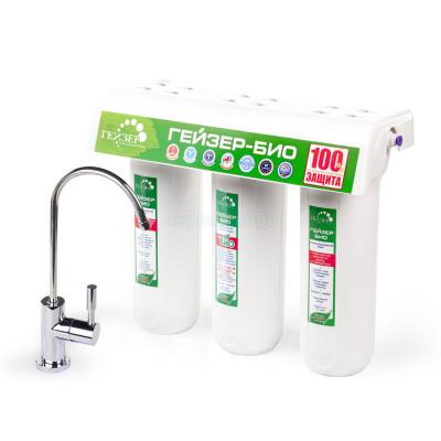 Проточные фильтры - Проточный фильтр Гейзер Био 321 для жесткой воды - фото 1